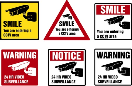 lookout: Video surveillance signs  Property is protected by video surveillance