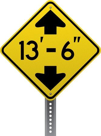 chauffeurs: Faible signe d'avertissement de trafic de d�douanement. Panneaux de signalisation en forme de losange avertissent les conducteurs des conditions et des dangers de la route � venir.