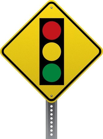 chauffeurs: signe d'avertissement de trafic de signalisation routi�re. Panneaux de signalisation en forme de losange avertissent les conducteurs des conditions et des dangers de la route � venir.