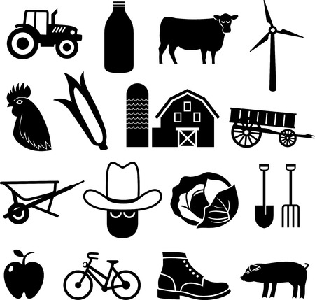 Farming and Agriculture Icons photo