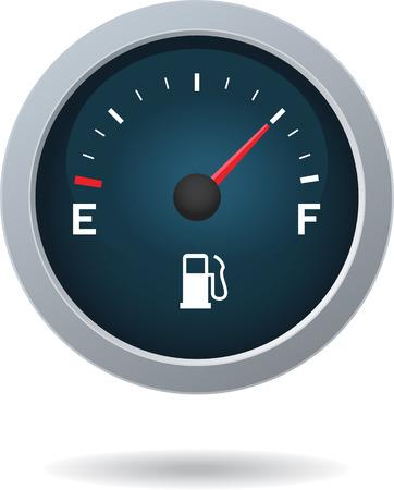 Kraftstoffanzeige-Einheit isoliert auf weißem Hintergrund Standard-Bild - 35038511