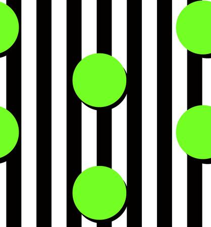 spot clean: Modern black stripes and yellow circles seamless pattern.  Illustration