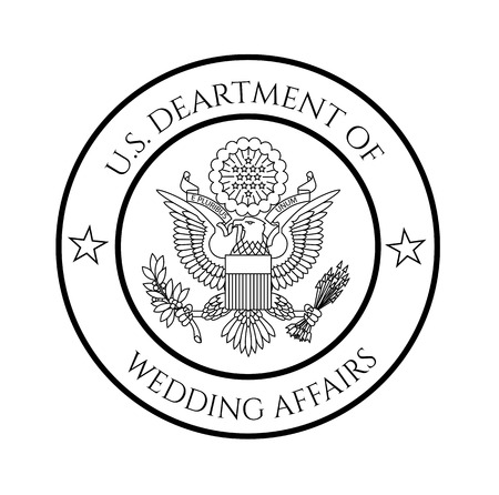 patriotic: Wedding affairs fake government seal.