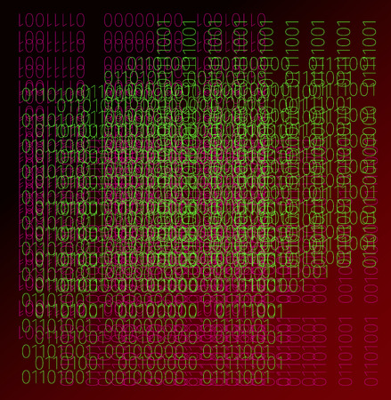 Binary code colorful background. Showing the complexity of the world we live in.