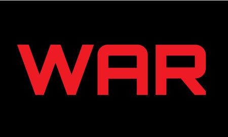 소요: War caption red on black.  일러스트
