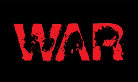 imminence: epígrafe Guerra rojo en negro.