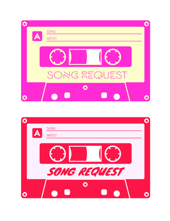 request: Song request card for print. Illustration