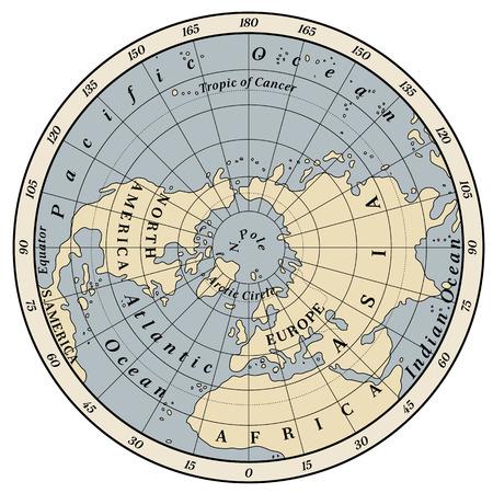 northern: Northern Hemisphere detailed illustration