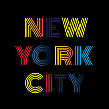 merchandise: New York City typography. T-shirt graphics and other merchandise. Illustration