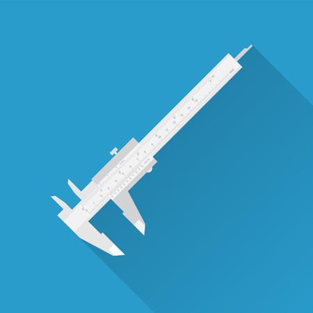 vernier: Vernier caliper tool isolated on white. Sliding caliper illustration.