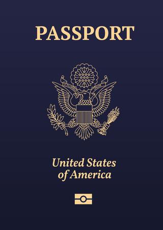 US passport image. Banco de Imagens - 54482324