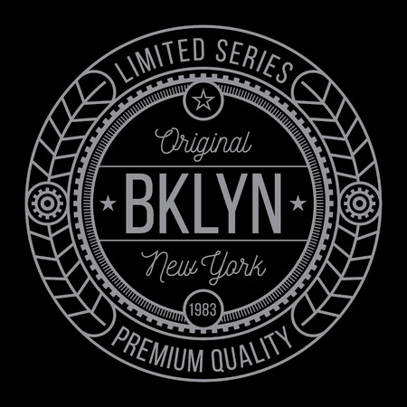 brooklyn: New York Brooklyn typography, modern style seal, t-shirt graphics