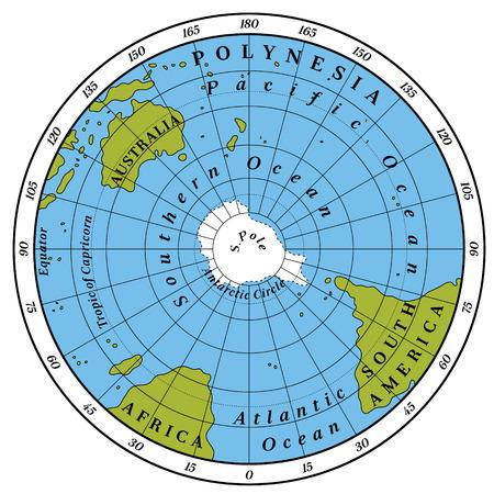 hemisphere: Southern Hemisphere detailed illustration
