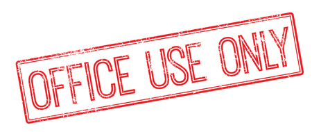 office use: Office Use Only red rubber stamp on white. Print, impress, overprint.