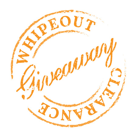 giveaway: Giveaway eco stamp. Disstressed natural rubber stamp on white background. Promotion sign for fresh and healthy natural product.