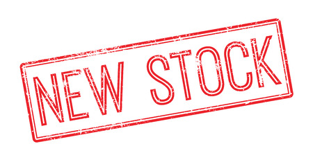 compile: New Stock red rubber stamp on white. Print, impress, overprint.