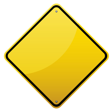 detailed image: Blank glossy road sign on white background.Vector scalable detailed image.