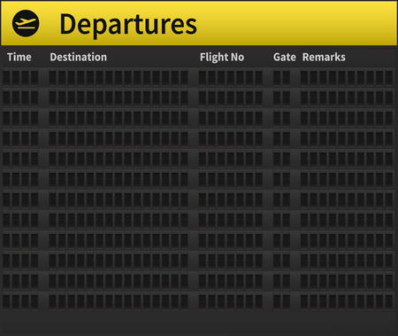 departing: An empty airport timetable. Very detailed illustration of airport timetable.