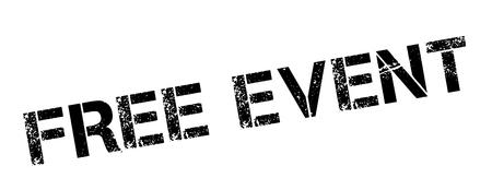 freebie: Free Event black rubber stamp on white. Print, impress, overprint.