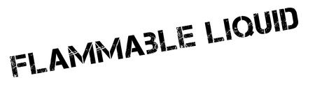 burnable: Flammable liquid black rubber stamp on white. Print, impress, overprint.