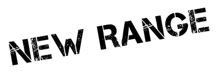diapason: New Range black rubber stamp on white. Print, impress, overprint. Illustration