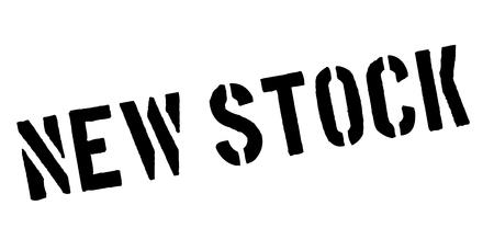 stockpile: New Stock black rubber stamp on white. Print, impress, overprint.