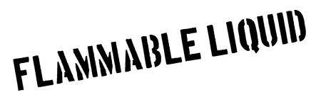 Flammable liquid black rubber stamp on white. Print, impress, overprint.