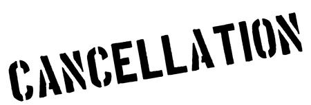 Cancellation black rubber stamp on white. Print, impress, overprint.  イラスト・ベクター素材