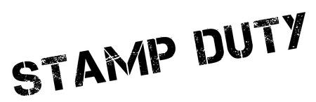Stamp Duty tampon en caoutchouc noir sur blanc. Imprimer, impressionner, overprint.
