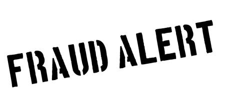 robbed: Fraud Alert black rubber stamp on white. Print, impress, overprint.