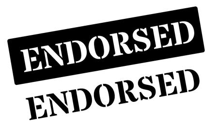 settled: Endorsed black rubber stamp on white. Print, impress, overprint. Illustration