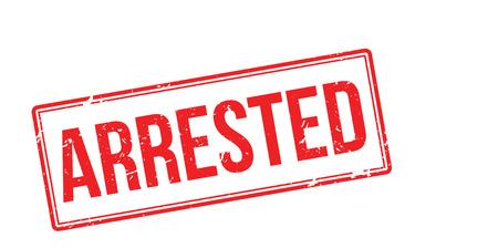 nicked: Arrested red rubber stamp on white. Print, impress, overprint. Illustration