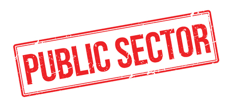 public health services: Public Sector red rubber stamp on white. Print, impress, overprint. Illustration