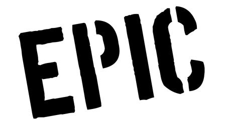daring: Epic black rubber stamp on white. Print, impress, overprint. Illustration