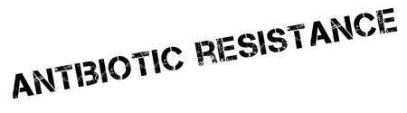 evade: Antibiotic resistance black rubber stamp on white. Print, impress, overprint.