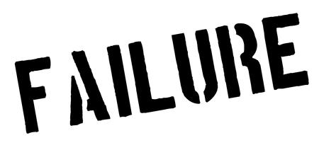 defeat: Failure black rubber stamp on white. Print, impress, overprint.