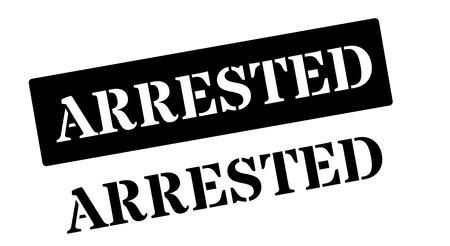 nicked: Arrested black rubber stamp on white. Print, impress, overprint.