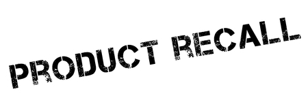 overprint: Product recall black rubber stamp on white. Print, impress, overprint. Illustration