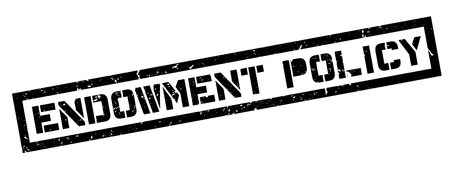 endowment: Endowment Policy rubber stamp on white. Print, impress, overprint.