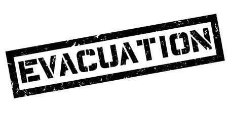 evacuation: Sello de goma de evacuaci�n en blanco. Imprimir, impresionar, sobreimpresi�n.