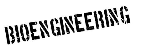 uni: Bioengineering rubber stamp on white. Print, impress, overprint. Illustration