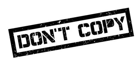 don't: Dont copy rubber stamp on white. Print, impress, overprint. Illustration