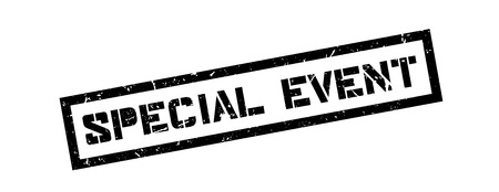 special event: Special event rubber stamp on white. Print, impress, overprint.