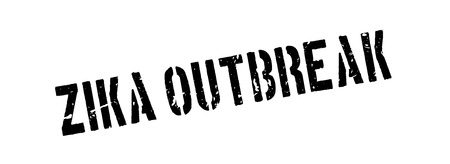 mosquitoes: Zika outbreak rubber stamp on white. Print, impress, overprint. Illustration