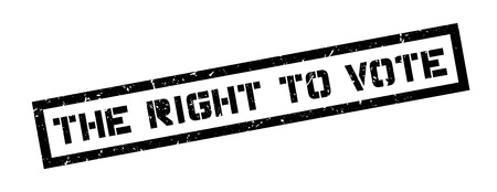 right to vote: The right to vote rubber stamp on white. Print, impress, overprint.