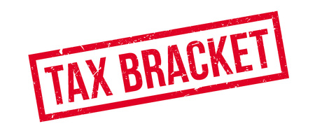 tax bracket: Tax bracket rubber stamp on white. Print, impress, overprint.