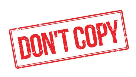 dont: Dont copy rubber stamp on white. Print, impress, overprint. Illustration