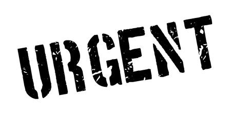 received: Urgent rubber stamp on white. Print, impress, overprint. Illustration