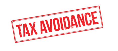 avoidance: Tax avoidance rubber stamp on white. Print, impress, overprint. Illustration