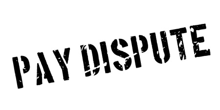 dispute: Pay dispute rubber stamp on white. Print, impress, overprint.